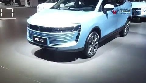 海口国际新能源汽车展实拍有潜力的跨界车欧拉IQ