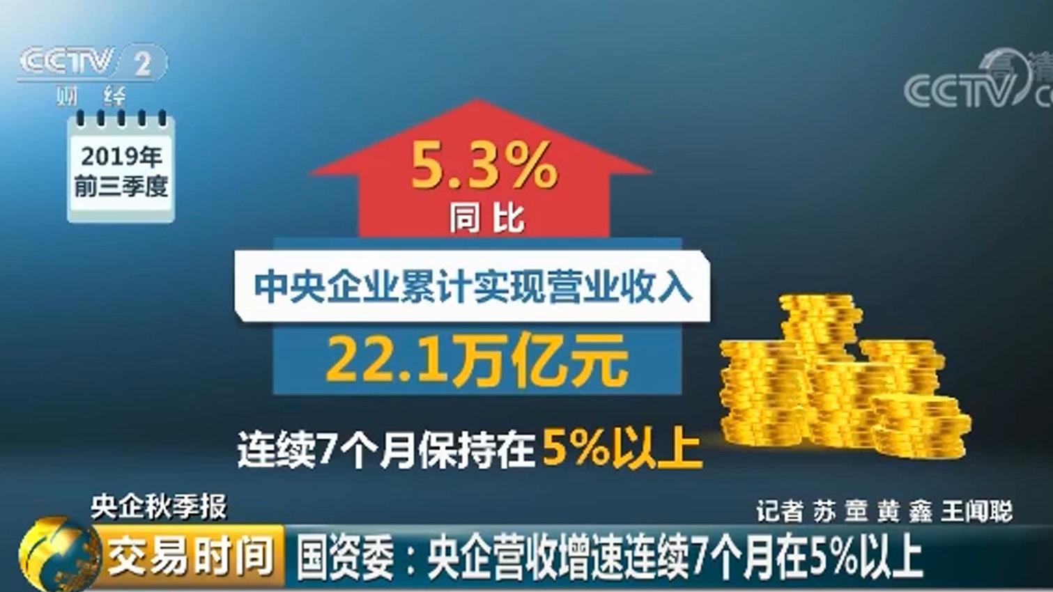 A股中坚力量!国资委:今年前三季度