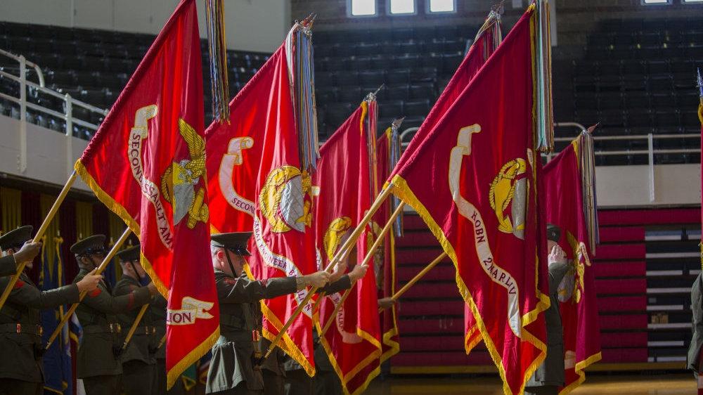 """""""星旗电戟""""如何正确分辨美国海军陆战队的军用旗帜?"""