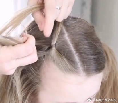 运动少女风编发教程分享,小仙女都喜欢的一款发型,简单又个性