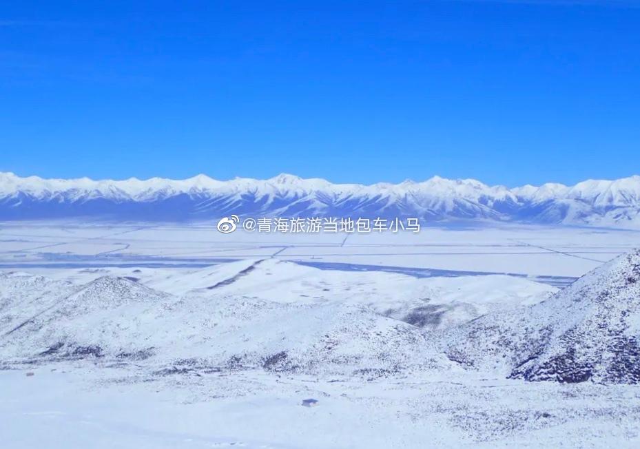 从张掖返回西宁,经过祁连山脉,迷醉在这一片白色世界里,一夜之间