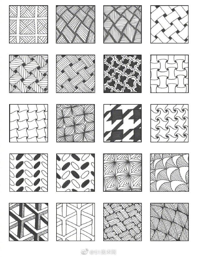 图案纹理表现,校考设计的美术生可以参考下哦~|Emily Houtz