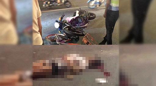 网传汕头交警执法用单车扔摩托车致车祸 官方:征集现场视频线索