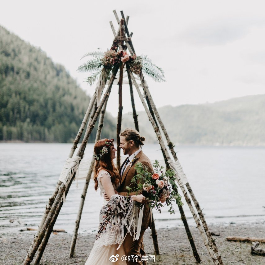 尖顶帐篷,波西米亚婚礼最标志的元素之一