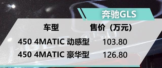 2019广州车展 梅赛德斯-奔驰GLS上市 售价103.8-126.8万元