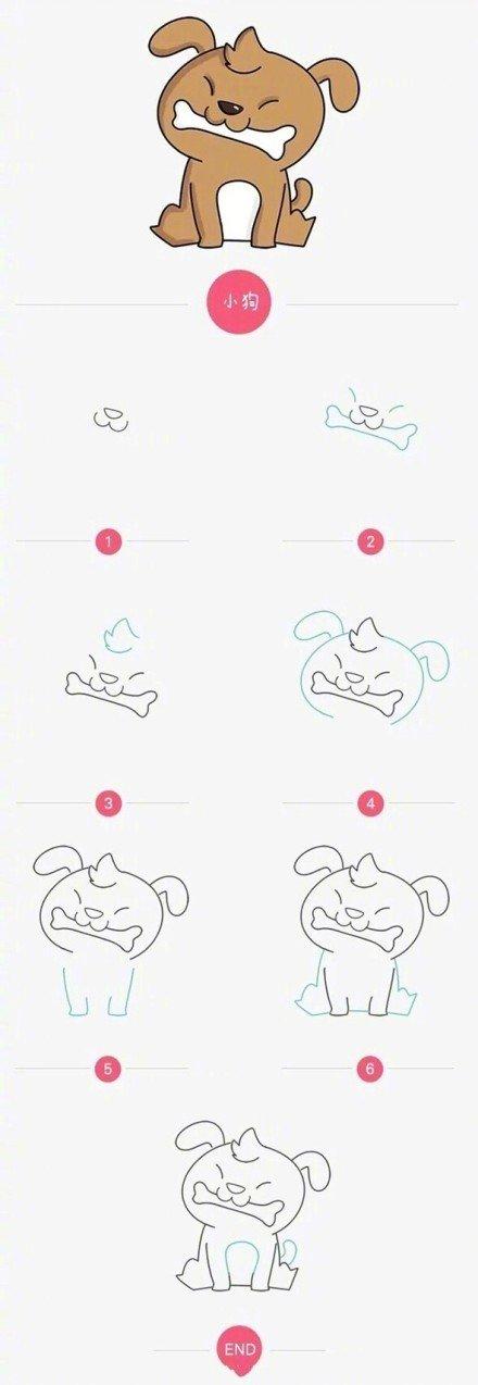 可爱的小动物简笔画哦,无聊时候可以和宝宝一起画