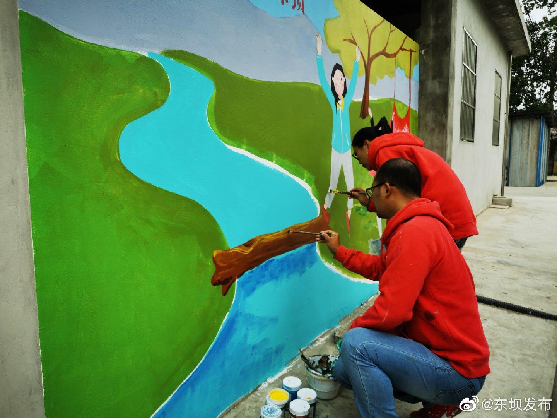 美丽墙绘扮靓社区环境