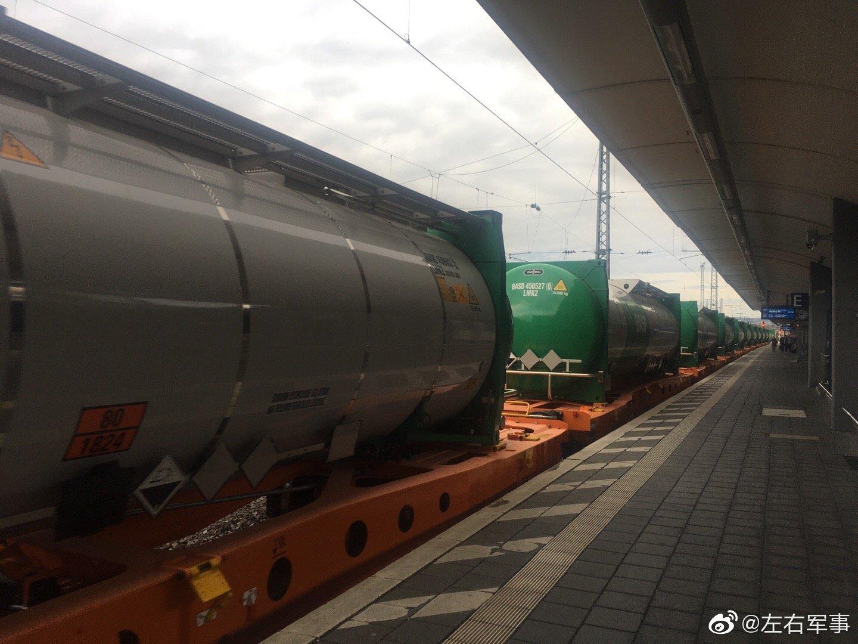 好壮观,偶遇巴斯夫公司的化学运输火车