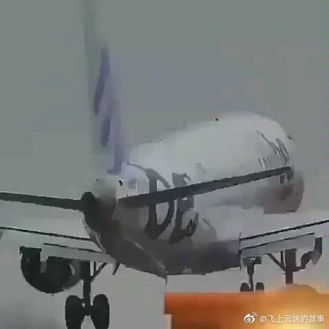 客机蟹型进场,差点冲出跑道!