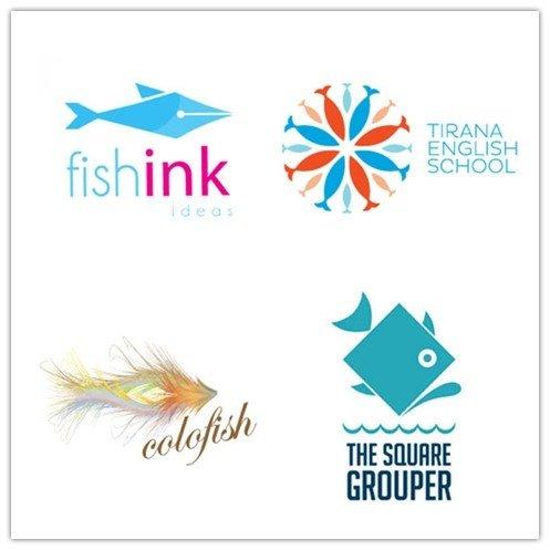和鱼相关的logo应用范围非常多,比如
