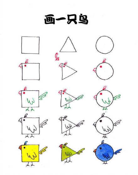 亲子简笔画,小动物简笔画教程,转