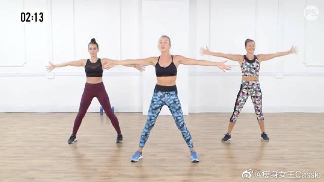 4分钟无重量手臂塑形健身运动,练完可以瘦手臂、瘦大腿!