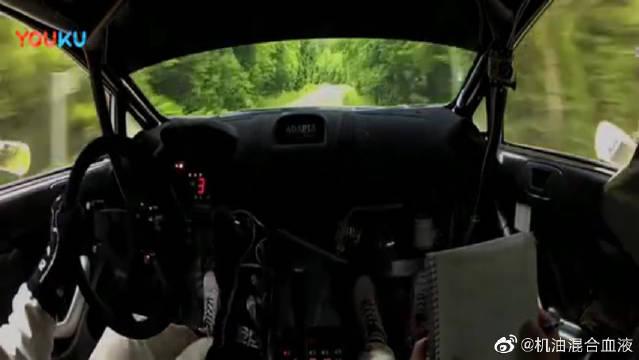 难得一见!驾驶室看WRC车手的操作,油门、离合和刹车不停转换