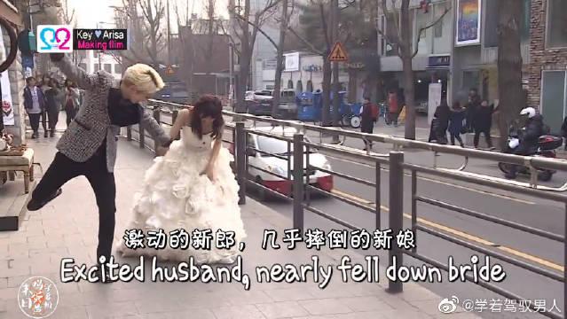 我们结婚了:积木夫妇拍结婚照进行时,两个人都很慌张啊哈哈哈
