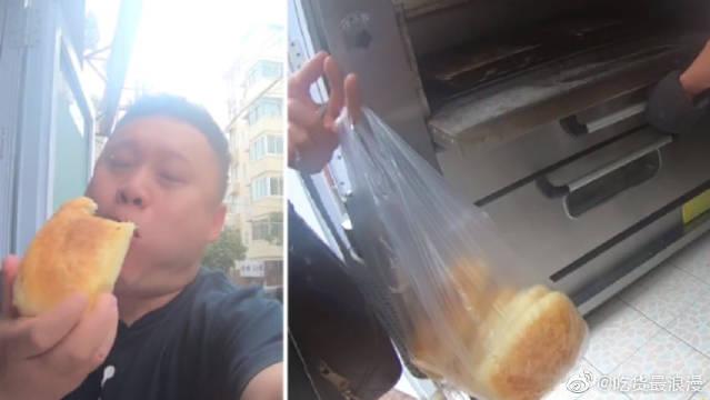 青岛:不少羊肉汤馆野馄饨供货商,通山路专注油酥火烧20年的铺子
