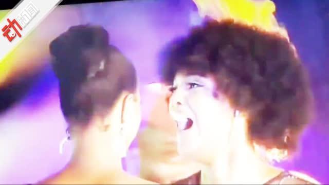 惊!非洲小姐冠军正开心庆祝 突然发现头发着火了