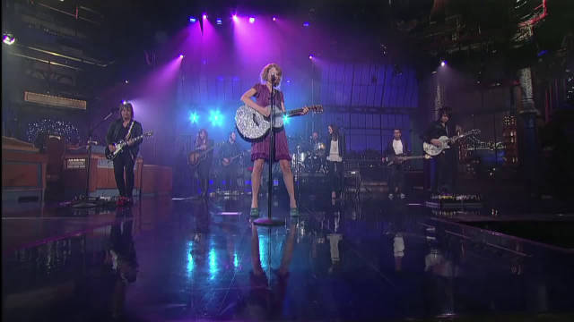 霉霉《Mine》现场版 ,TaylorSwift 《Mine》Live on Letterman!