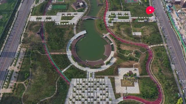 航拍许昌中央公园