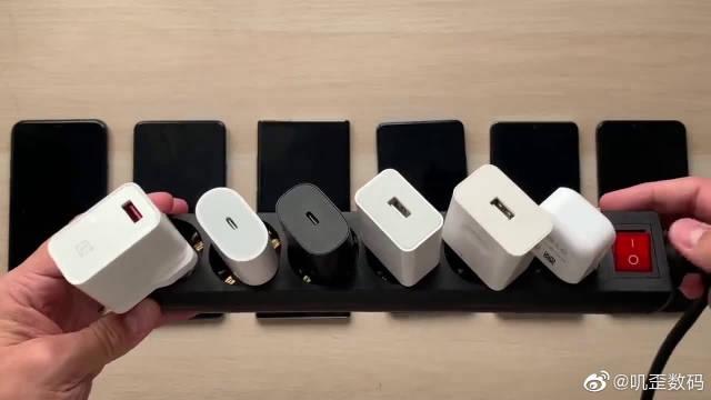 苹果、一加、三星、小米、华为旗舰手机充电速度对比