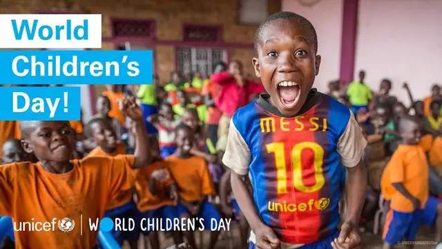梅西在Facebook:世界儿童节快乐