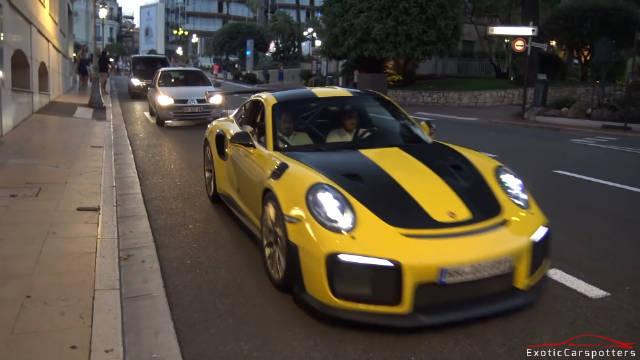 摩纳哥街头超跑神车刷街秀声浪
