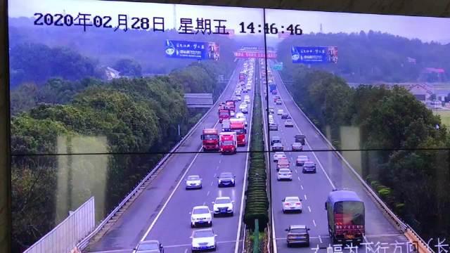 长张高速往东方向车流量大,益阳段湘江西,泉交河,朝阳