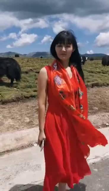 这是真的 有一次穿红色的被牛追过