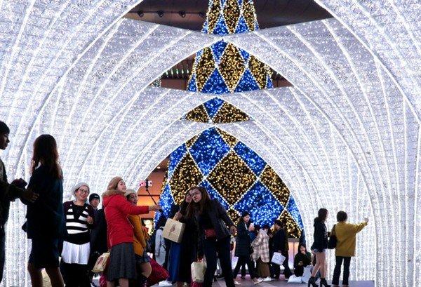 福冈的冬季灯光秀亮灯 将持续至明年1月