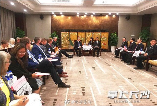 长沙市领导会见美国圣保罗市友好代表团一行