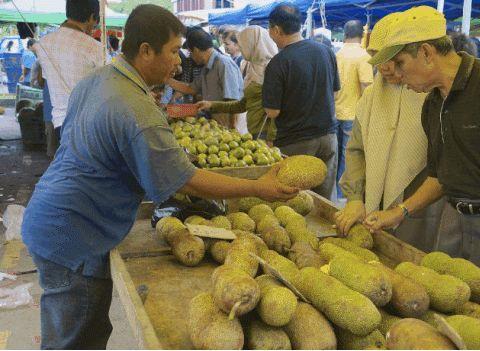 中国人到泰国旅游,买了5个榴莲10个芒果,看到账单傻住