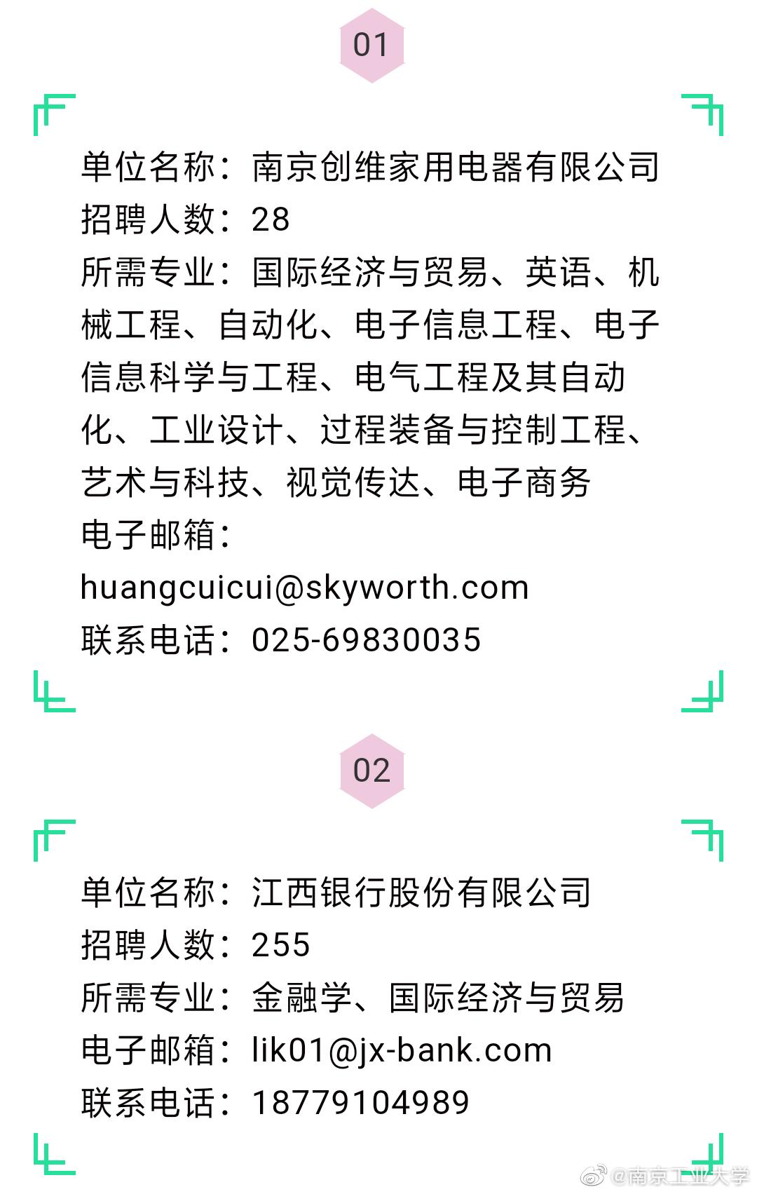 招聘公告‖南京工业大学10月4日招聘公告