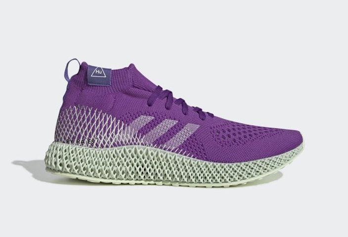 Pharrell Williams x adidas Originals 带来全新4D跑鞋