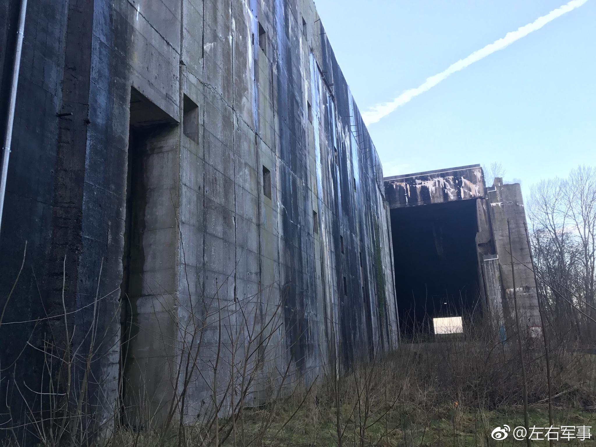 """二战德国不莱梅""""瓦伦丁""""潜艇洞库工厂"""