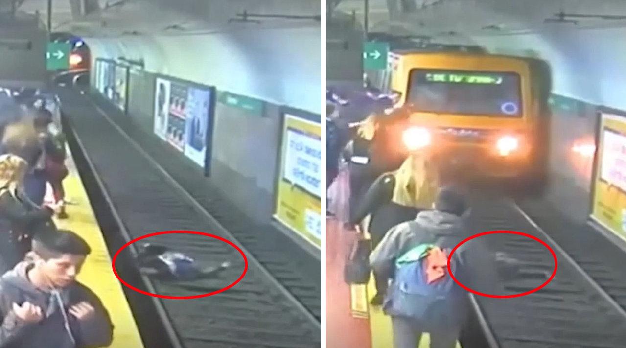 在阿根廷布宜诺斯艾利斯一地铁站发生了戏剧性的一幕