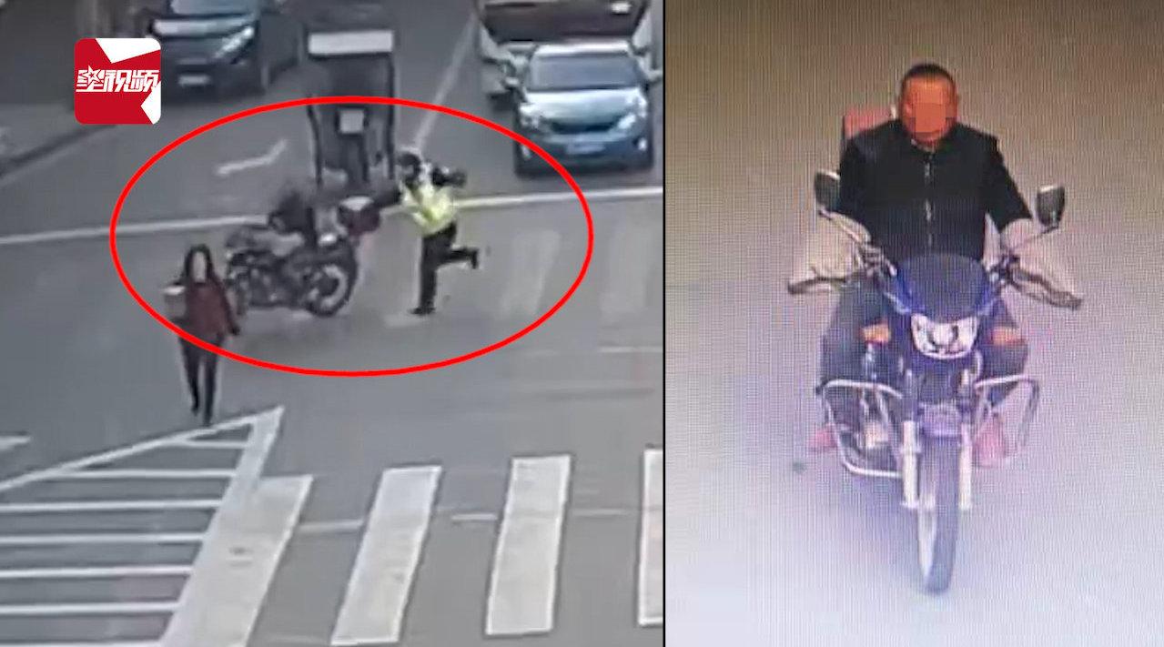 四川一男子路口逆行拒绝检查,强行冲卡拖倒交警被拘留