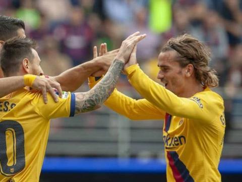 """巴塞罗那的新""""三叉戟""""复活:迄今为止他们共有13个进球"""