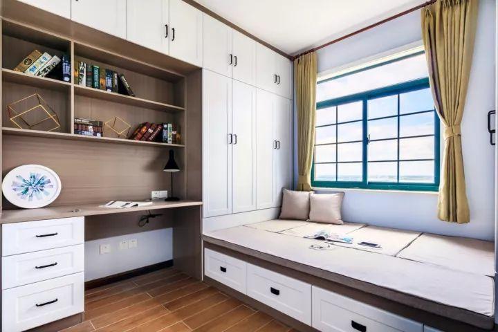 小户型的书房做在卧室里就好,一个书桌柜顶一间房|柜|图片