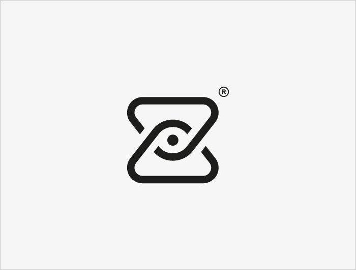 简约漂亮的logo设计黑白图