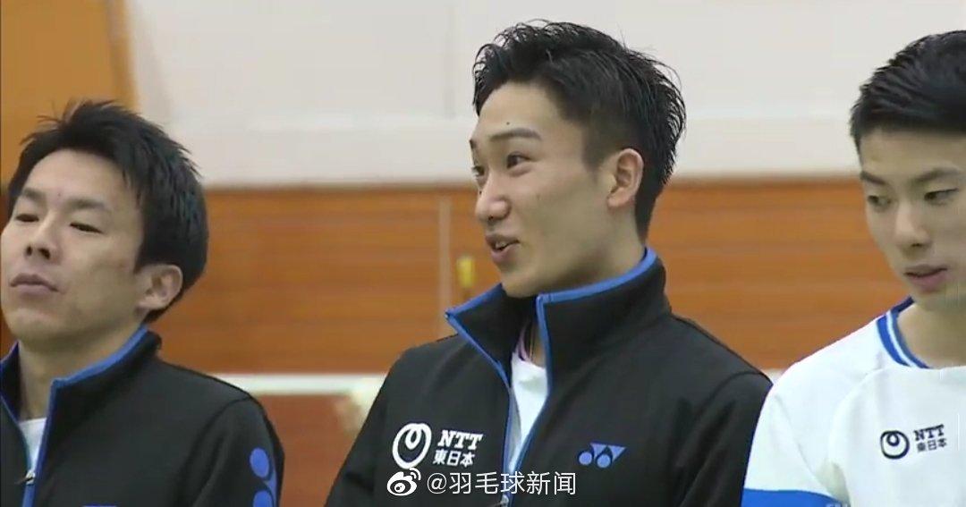 今日份全日实业羽球大会上的桃田贤斗