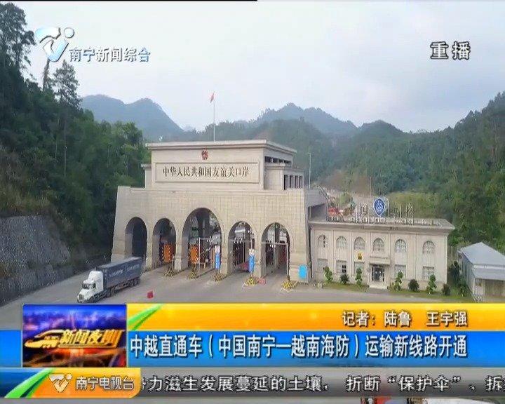 中越直通车(中国南宁-越南海防)运输新线路开通