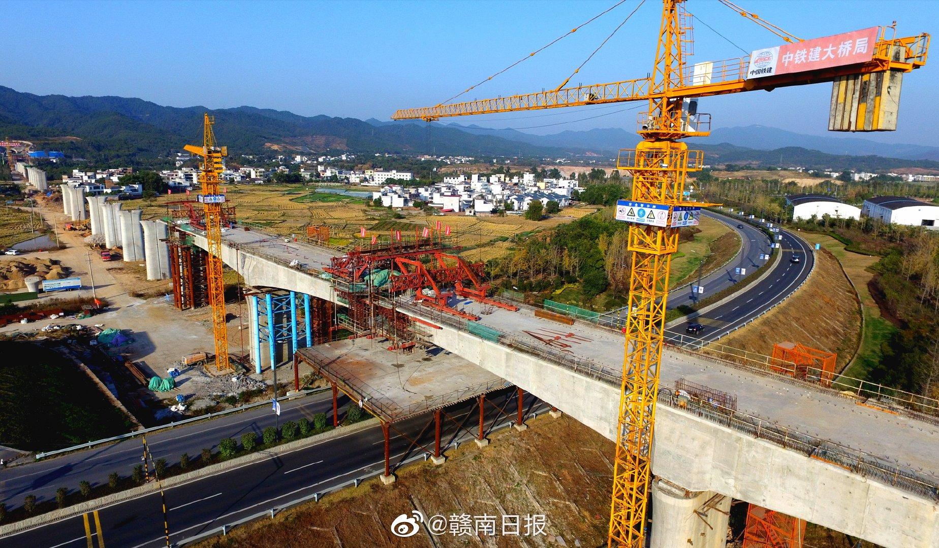 赣深高铁赣州段建设进展顺利