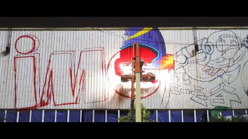 超酷!长沙最大涂鸦作品