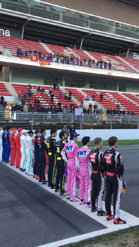 20位F1车手拍摄新赛季宣传片,谁的身高暴露了