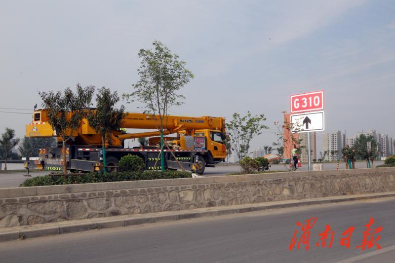 渭南市对境内6条普通国道运营路段里程桩号敷设及交通标志进行调整