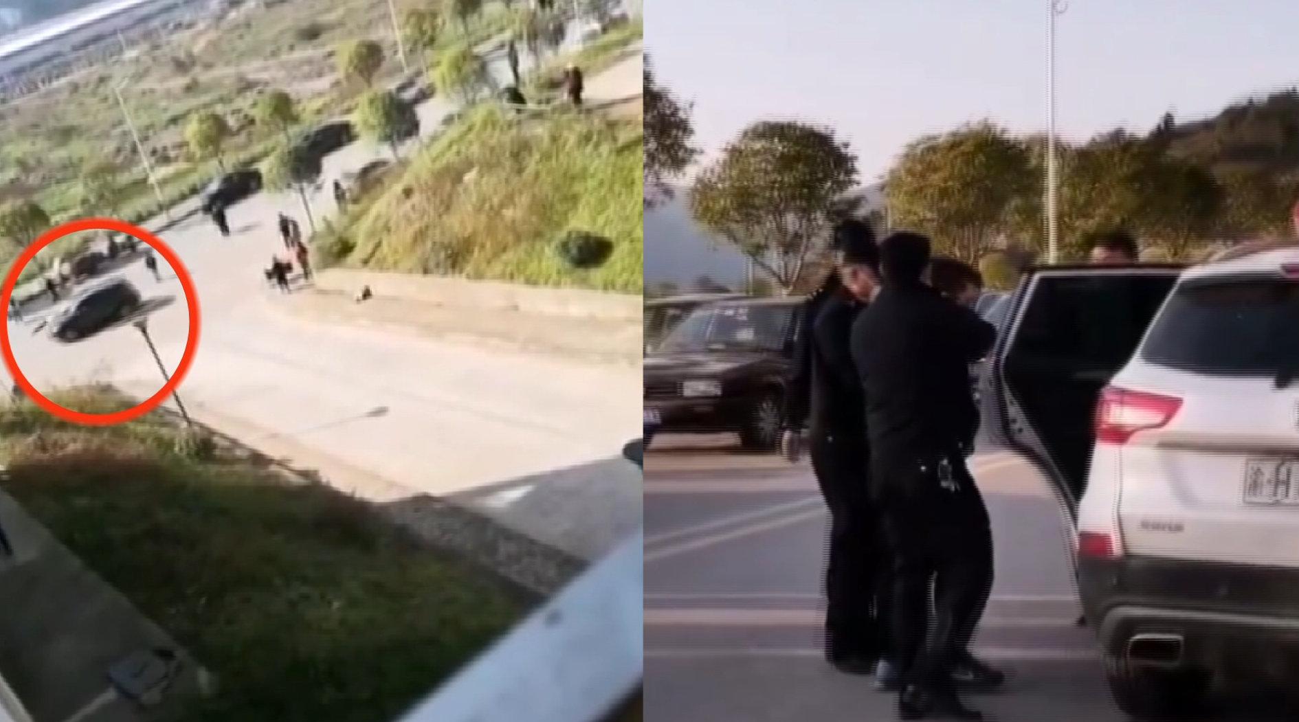 重庆男子驾车暴力冲卡,故意撞工作人员:涉嫌故意杀人被逮捕