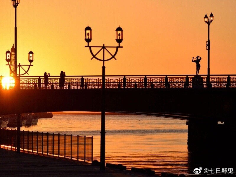 推荐一个北海道看夕阳的好去处,钏路币舞桥(ぬさまいばし)