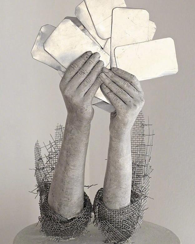 消失的孩子 | 挪威艺术家 Lene Kilde 的丝网人物雕塑