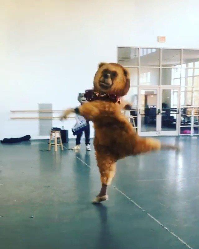 """胡桃夹子的芭蕾熊排练日常(二)灵活的胖子  优雅的""""圣诞熊"""""""