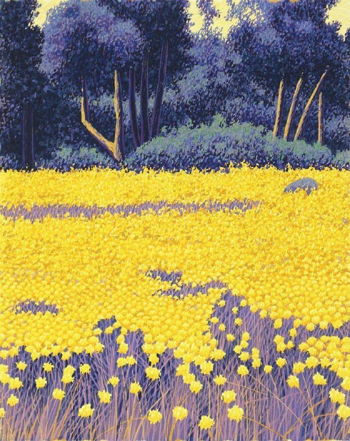 春暖花开黑人华女_春暖花开,画家 gordon mortensen 的版画