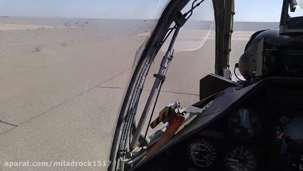 伊朗军队AH-1J武装直升机飞行画面